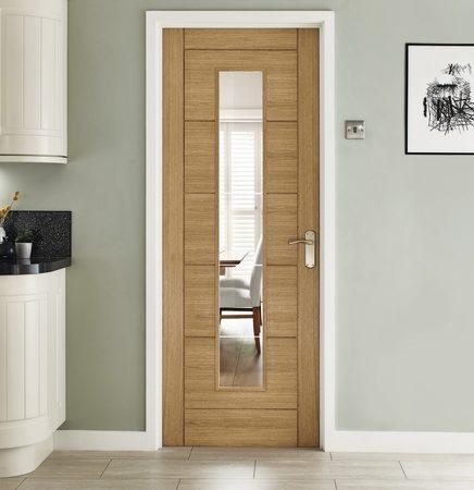 linear glazed door